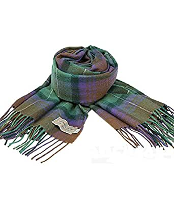 (ロキャロン) Lochcarron of scotland英国スコットランド製 タータンチェック柄 ラムズウール100% 大判ストール 英国王室ご愛用 (アイルオブスカイ)