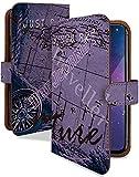 iPhone6s ケース 手帳型 マップ パープル ヴィンテージ アメカジ スマホケース アイフォン アイフォーン アイフォン6s 手帳 カバー IPHONE 6S 6sケース 6sカバー 地図 コンパス 地図柄 [マップ パープル/t0372e]