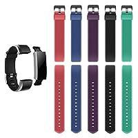 N & G星Fitness Tracker Bands for id115plus HR、ベルトのセット5色ブラック、ブルー、グリーン、パープル、レッド)