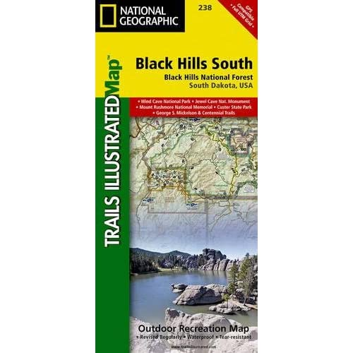 National Geographic Trails Illustrated Map Black Hills South: Black Hills National Forest South Dakota, USA