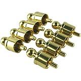 MG-M RCAキャップ RCAカバー RCA端子キャップ RCAジャックカバー RCAプロテクター ゴールド 金メッキ センターピン着脱可能 A 8個セット