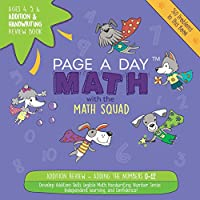 Page a Day Math Addition & Handwriting Review Book: Practice Adding 0-12