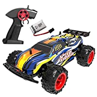 GILOBABYキッズRcカーのおもちゃ、子供のための高速オフロードリモートコントロールレーシングカー男の子、おもちゃギフト2.4GHzのRcトラック車両のおもちゃ年齢6 7 8+