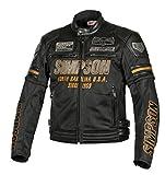 シンプソン(SIMPSON) バイク用ジャケット Mesh Jacket(メッシュジャケット) ブラック/ゴールド 3L SJ-8116SP