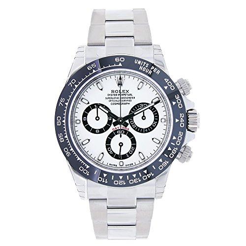 Rolexデイトナ40mmステンレススチール&セラミックホワイトダイヤル腕時計116500ln