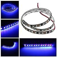防水UV紫外線パープル3528 LED柔軟な黒ストリップランプライト12V DC ライト (サイズ : 60cm)