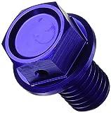 ジータ(ZETA) マグネティックドレンボルト アルミ ブルー ボルトサイズxねじ長-ピッチ:M10x15-P1.5 カワサキ[KAWASAKI] ZE58-1322
