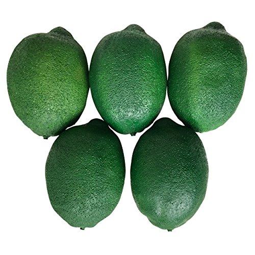 SENYON 食品サンプル レモン 果物 ディスプレイ 模型 フルーツ (グリーン, 5個)...