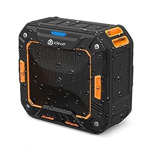 iClever Bluetooth スピーカー アウトドア ポータブルスピーカー IP65 防水 防塵 耐衝撃 ワイヤレスステレオスピーカー (ブラック) IC-BTS03