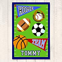 KidsスポーツテーマアートプリントWフットボールフィールドデザイン–Game On