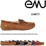 (エミュー)emu モカシン ムートン シューズ AMITY アミティー シープスキン W10555 (並行輸入品)