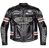 シンプソン(SIMPSON) レザージャケット BLACK/RED M SLJ-5111