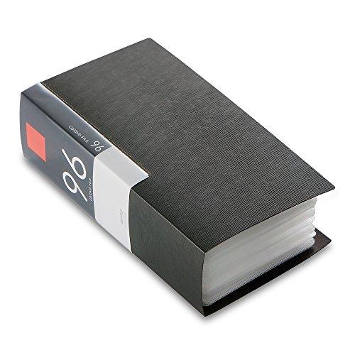 BUFFALO CD&DVDファイルケース ブックタイプ 96枚収納 ブラック BSCD01F96BK 1個