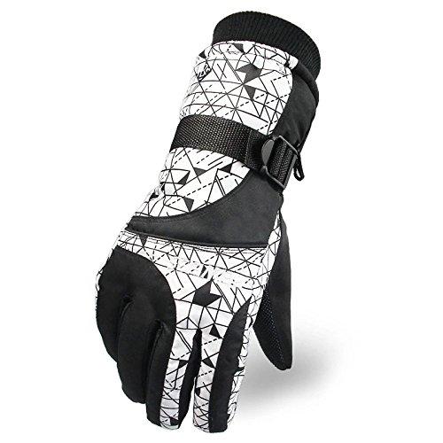 Tomoto防撥水 防寒 透湿 アウトドア 冬用 バイク マリンレジャー 登山 バイク スキー 手袋グローブ (ホワイト2, 男性用)