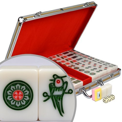 Professional Chinese Mahjong w/ Aluminum Case and Large Tiles by Yellow Mountain Imports [並行輸入品]