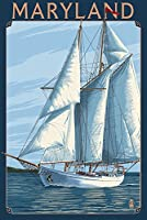 メリーランド州–ヨットシーン 16 x 24 Signed Art Print LANT-44917-709