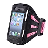 Insten Arm Holder Armband Exercise Jogging Case for iPhone 3G/4S (Black/Pink) by INSTEN