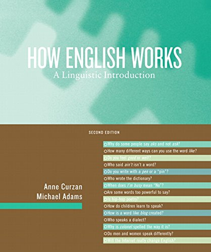 Download How English Works: A Linguistic Introduction 0205605508
