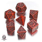 Dwarven Dice Set Red & Black (ドワーフダイスセット7種 レッド&ブラック)