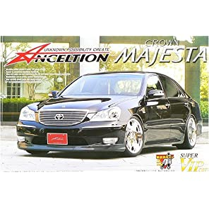 青島文化教材社 1/24 スーパーVIPカーシリーズ No.82 アンクエルション トヨタ 18マジェスタ 前期型 プラモデル