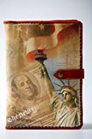 LIBERTY STATUE - LuxusOlymp 's Exclusive Handmade Embossed Leather Journal - Refillable - 9 X 6.5 [並行輸入品]