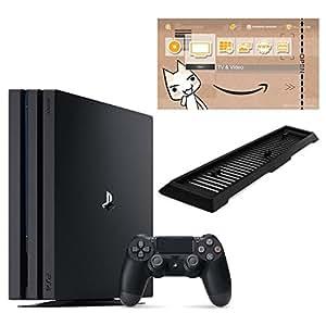 PlayStation 4 Pro ジェット・ブラック 1TB (CUH-7000BB01) 【Amazon.co.jp限定】アンサー 縦置きスタンド付 & オリジナルカスタムテーマ配信