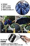 DeliToo 折りたたみ傘 逆折り式 ワンタッチ自動開閉 撥水加工 晴雨兼用 紺色 画像