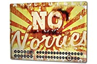 カレンダー Perpetual Calendar Fun M.A. Allen No Worries Tin Metal Magnetic
