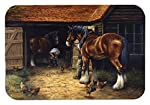 """Caroline's Treasures BDBA0086LCB""""Horse and The Blacksmith by Daphne Baxter"""" Glass Cutting Board, Large, Multicolor"""