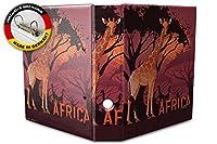 バインダー 2 Ring Binder Lever Arch Folder A4 printed Africa savanna