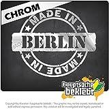 ベルリン製 Made in Berlin 12cm x 10cm 15色 - ネオン+クロム! ステッカービニールオートバイ