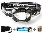 Xluminos超強力ヘッドライト【防水仕様】専用ポーチ、予備ヘッドバンド、電池付属