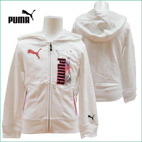 PUMA(プーマ)スウエット・ジップアップパーカージャケット(オフホワイト)...