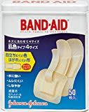 BAND-AID(バンドエイド) 救急絆創膏 肌色タイプ 50枚 (S22枚,W5枚,P5枚,Jr18枚)