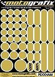 MOTOGRAFIX(モトグラフィックス) タンクパッド PROTECTIVE DOTS ゴールドメタリック MT-PD001AM