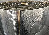 SOOMJ 断熱マット 熱反射 吸音 遮音防音材料 業務用 保冷保温シート 遮熱 (10mアルミ箔, 厚さ7mm)
