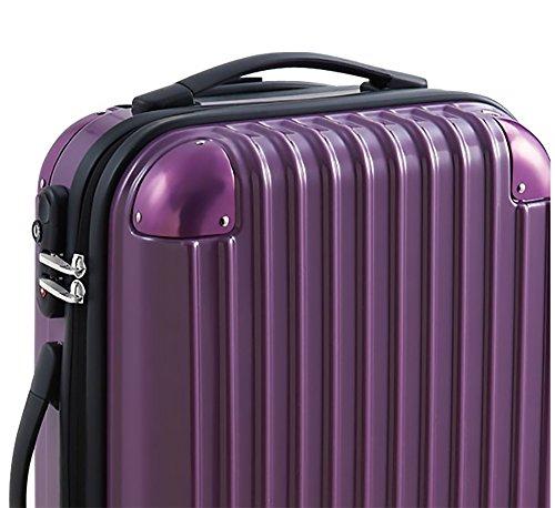 キャリーバッグ ファスナータイプ スーツケース キャリーケース パープル 紫