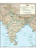 Lais Puzzle 物理地図インド 1000 部