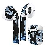 Air Pods 専用 デザインスキンシール airpods エアポッド apple アップル イヤフォン イヤホン カバー デコレーション アクセサリー エアフリー デコシール クール タトゥー 水面 000046