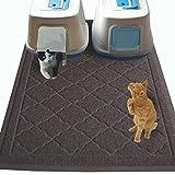 非毒性ジャンボサイズ猫用砂取りマット - (47 x 36 インチ) - エクストラ ラージ 猫用砂取りマット トイレ外への飛び散り対策 - 肉球にやさしい - (特許出願中)