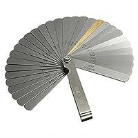 SODIAL 32レンジファインダ フィーラーバルブ ティーチングフィーラー 0.04-0.88 mmギャップサイズ. 0015-.035銅