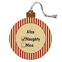 アイルサ is いたずらなウッドクリスマスオーナメント