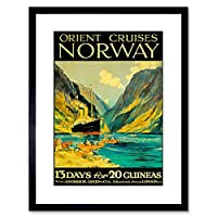 Orient Cruises Norway Fjord Ship London Framed Wall Art Print