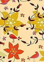 ポスター ウォールステッカー シール式ステッカー 飾り 210×297㎜ A4 写真 フォト 壁 インテリア おしゃれ 剥がせる wall sticker poster pa4wsxxxxx-004015-ds フラワー 花 鳥 カラフル