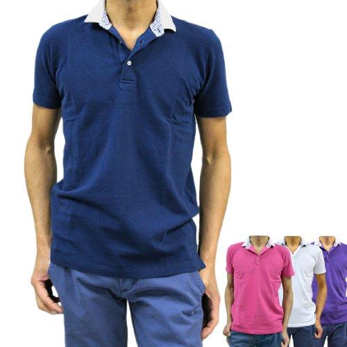 アルテア Altea メンズ ポロシャツ 半そで コットン(綿)100% 鹿の子 クレリック(altea_1550205) (L, ネイビー(紺)