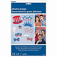 Patriotic Photo Booth Props, 10pc