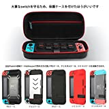 Nintendo Switchケース、ニンテンドースイッチ専用の保護ケース、持ち運びカバー、任天堂スイッチ用のキャリングケース、外出や旅行用の収納バッグ、消臭処理、防塵、防汚、耐衝撃、黒い