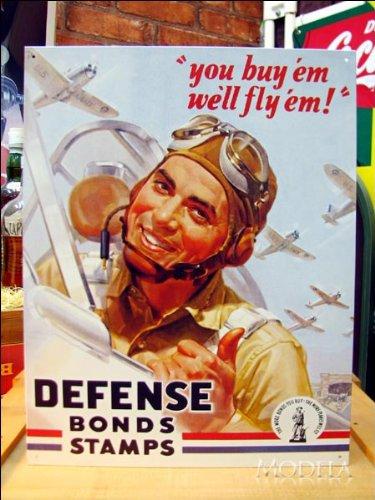 アメリカンブリキ看板 戦時中アメリカ国債の看板 (こちらの商品の内訳は『1点』のみ)
