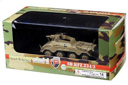 1:72 装甲車stahl ディスプレイ アーマー 88016 Bussing-NAG Sd.Kfz.234/3 プーマ ディスプレイ モデル ドイツ軍 3.PzDiv #03 ハンガリー Febru