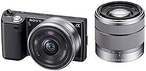ソニー SONY ミラーレス一眼 α NEX-5  ダブルズームレンズキットE16mm F2.8+E18-55mm F3.5-5.6  OSS付属 ブラック NEX-5D/B